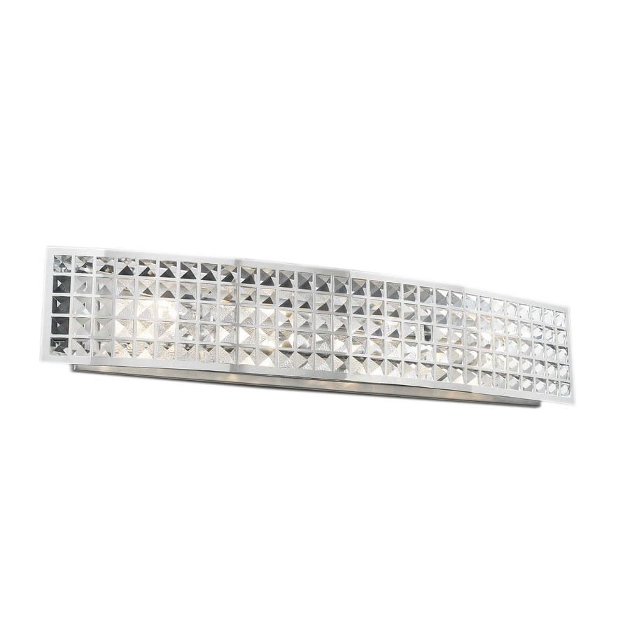 PLC Lighting Jewel 36-in W 1-Light Polished Chrome Pocket Hardwired Wall Sconce