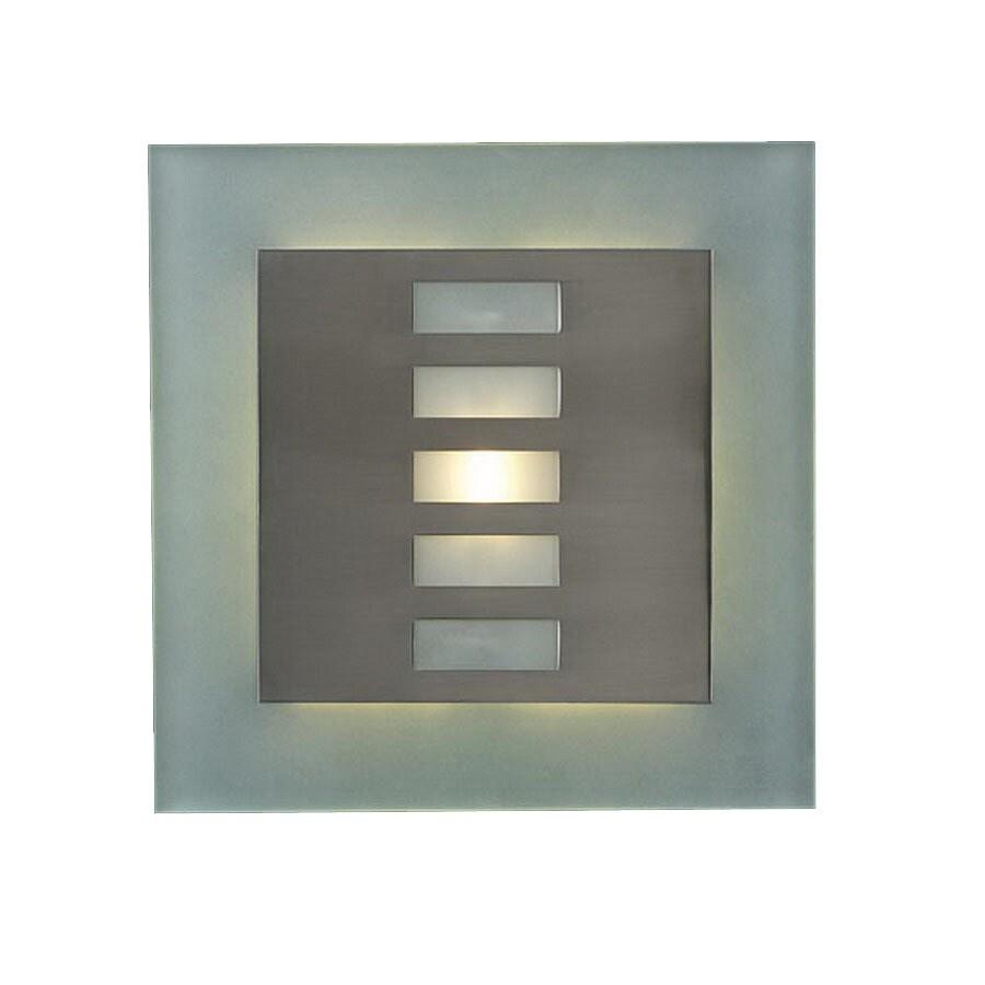 PLC Lighting Soho 12-in W 1-Light Satin Nickel Pocket Hardwired Wall Sconce
