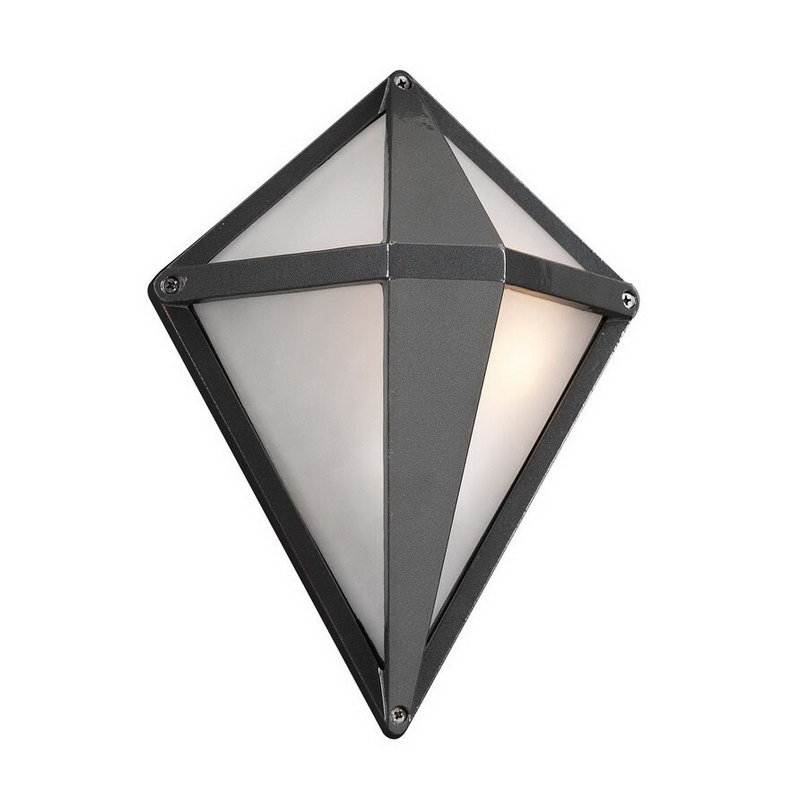 PLC Lighting Aeros 12-in Architectural Bronze Outdoor Wall Light