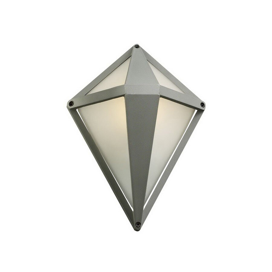 PLC Lighting Aeros 12-in Silver Outdoor Wall Light