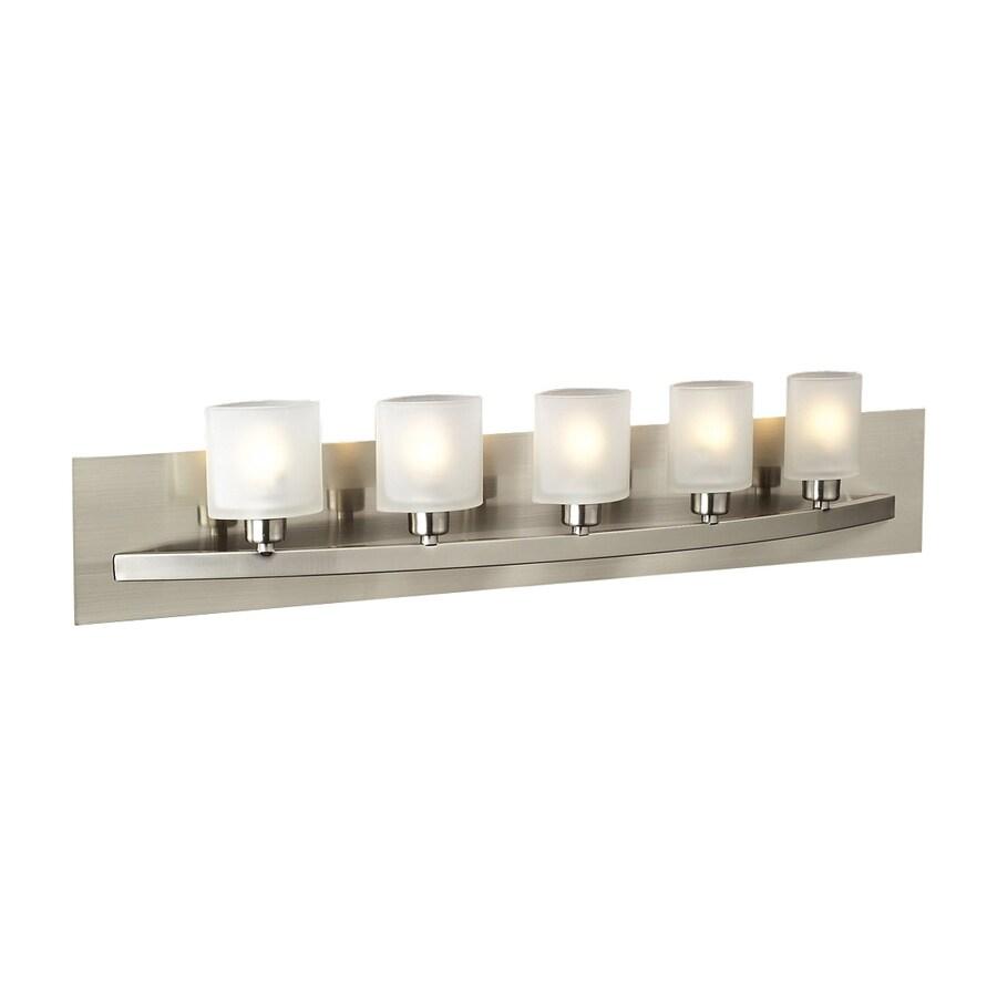 PLC Lighting 5-Light Wyndham Satin Nickel Standard Bathroom Vanity Light