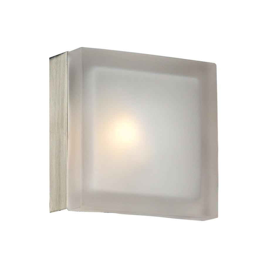 PLC Lighting Metz 5-in W 1-Light Satin Nickel Pocket Hardwired Wall Sconce