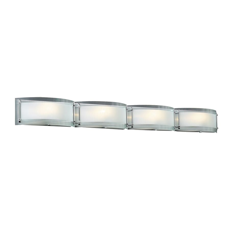 Vanity Light Bar Chrome : Shop PLC Lighting 4-Light Millennium Polished Chrome Standard Bathroom Vanity Light at Lowes.com