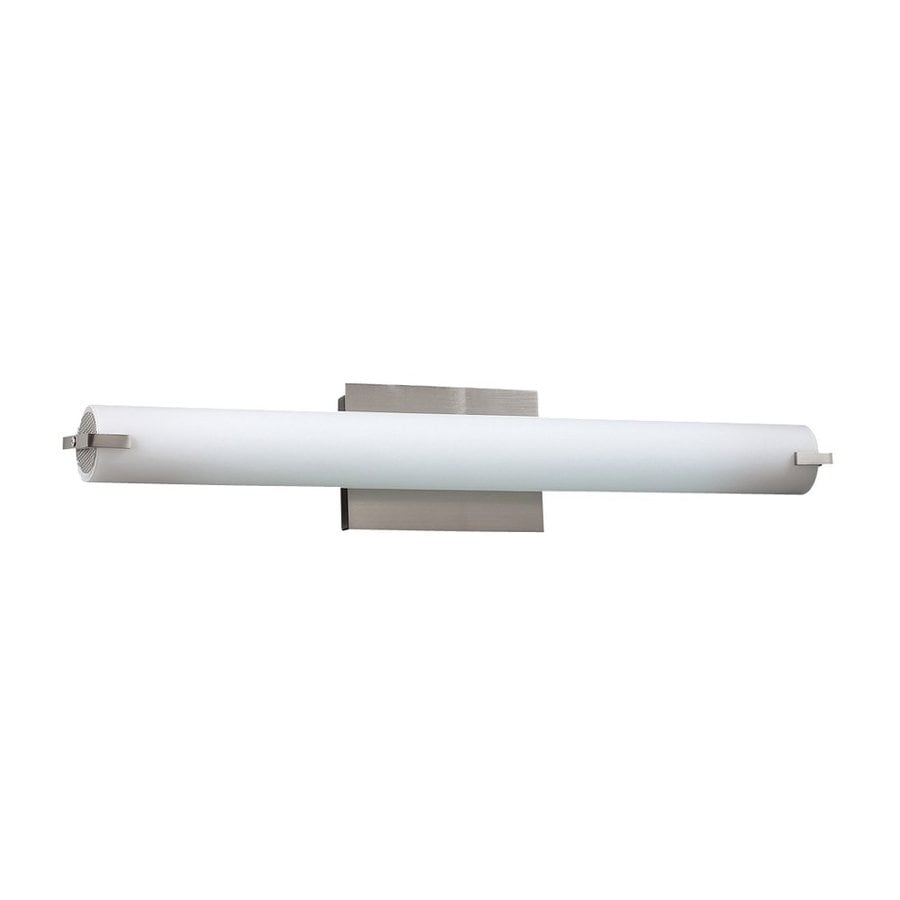 PLC Lighting 1-Light Polipo Satin Nickel Standard Bathroom Vanity Light