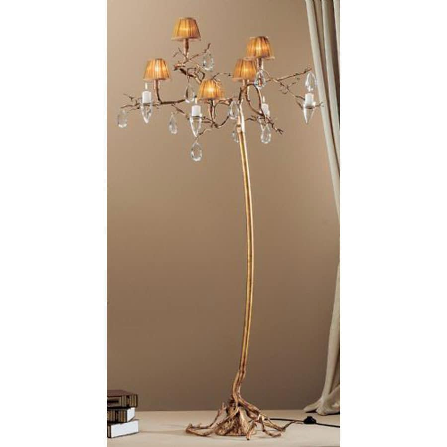 Classic Lighting 75-in Natural Bronze Floor Lamp with Shade