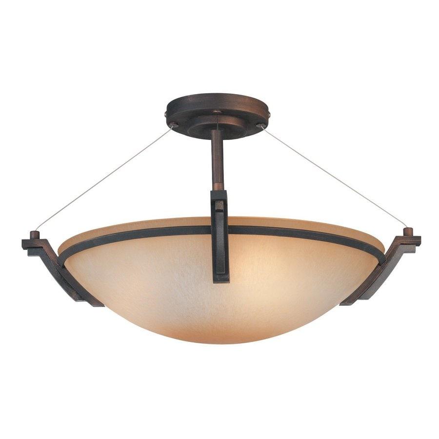Kendal Lighting Portobello 19-in W Oil-Rubbed Bronze Semi-Flush Mount Light