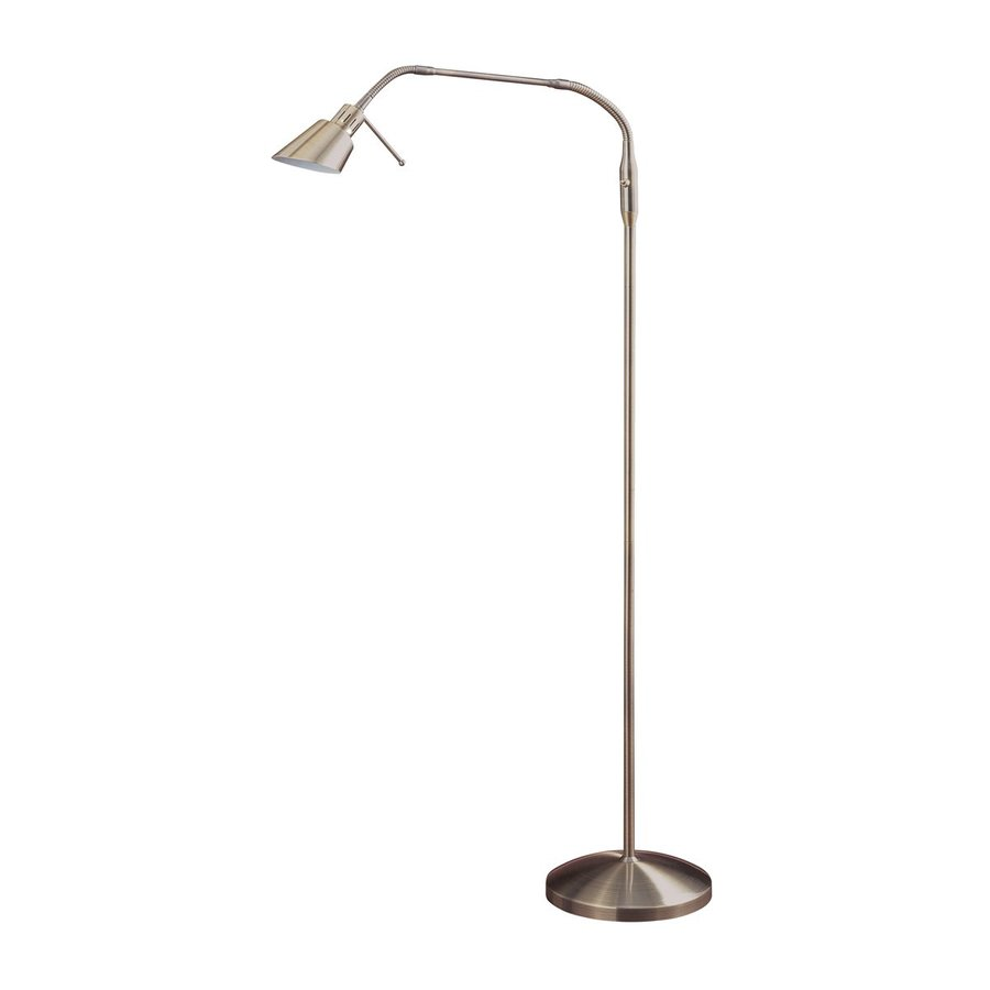 kendal lighting oslo 42 in antique brass indoor floor lamp with metal. Black Bedroom Furniture Sets. Home Design Ideas