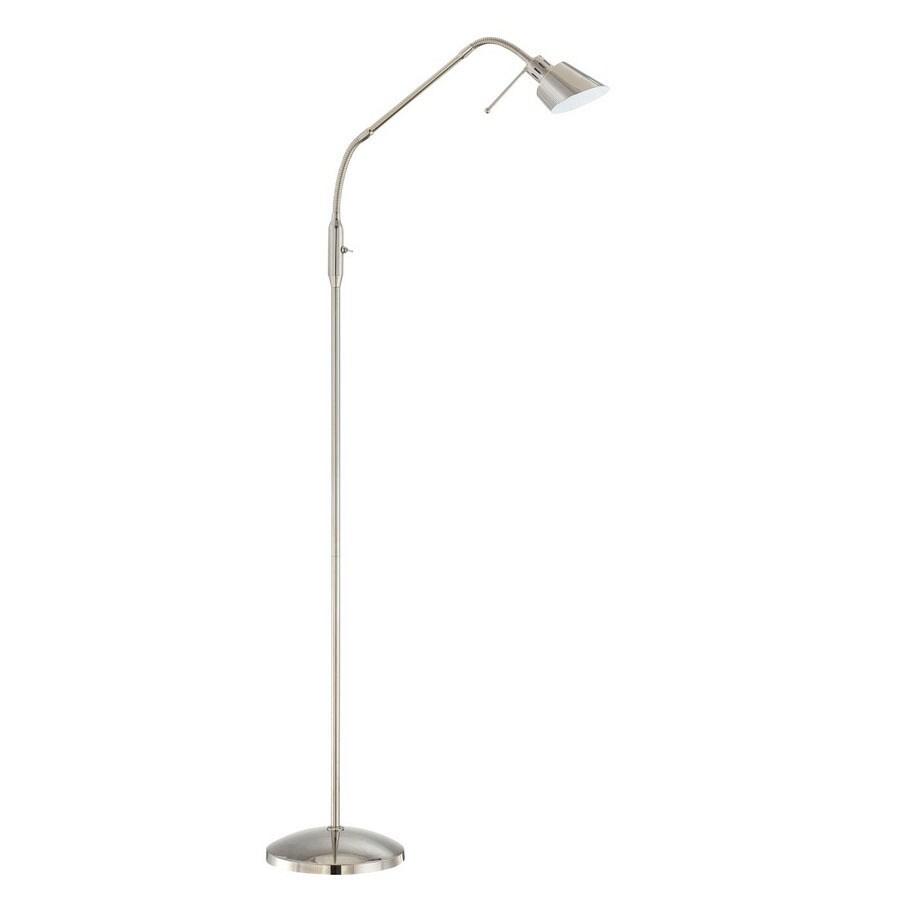 Kendal Lighting 42-in Polished Nickel Shaded Floor Lamp Indoor Floor Lamp with Metal Shade