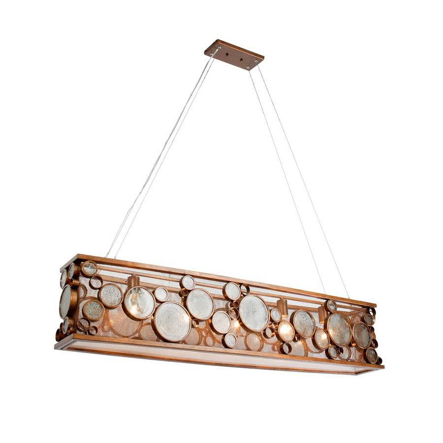 Varaluz Fascination 8-in W 5-Light Hammered Ore Kitchen Island Light with Shade
