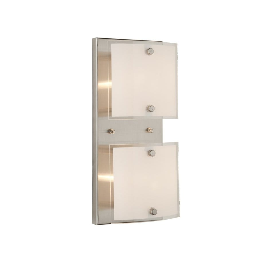Artcraft Lighting 2-Light Brentwood Brushed Nickel Bathroom Vanity Light