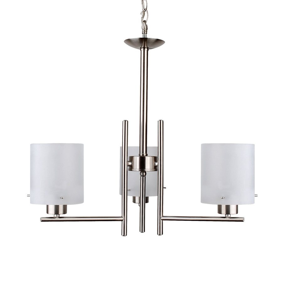 whitfield lighting dexter 3 light satin steel chandelier at