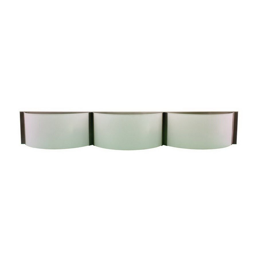 Whitfield Lighting 3-Light Satin Steel Bathroom Vanity Light