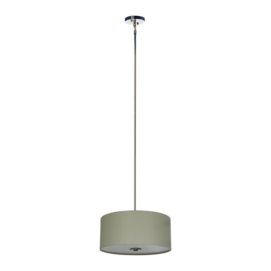 Whitfield Lighting Modena 16-in Chrome Drum Pendant