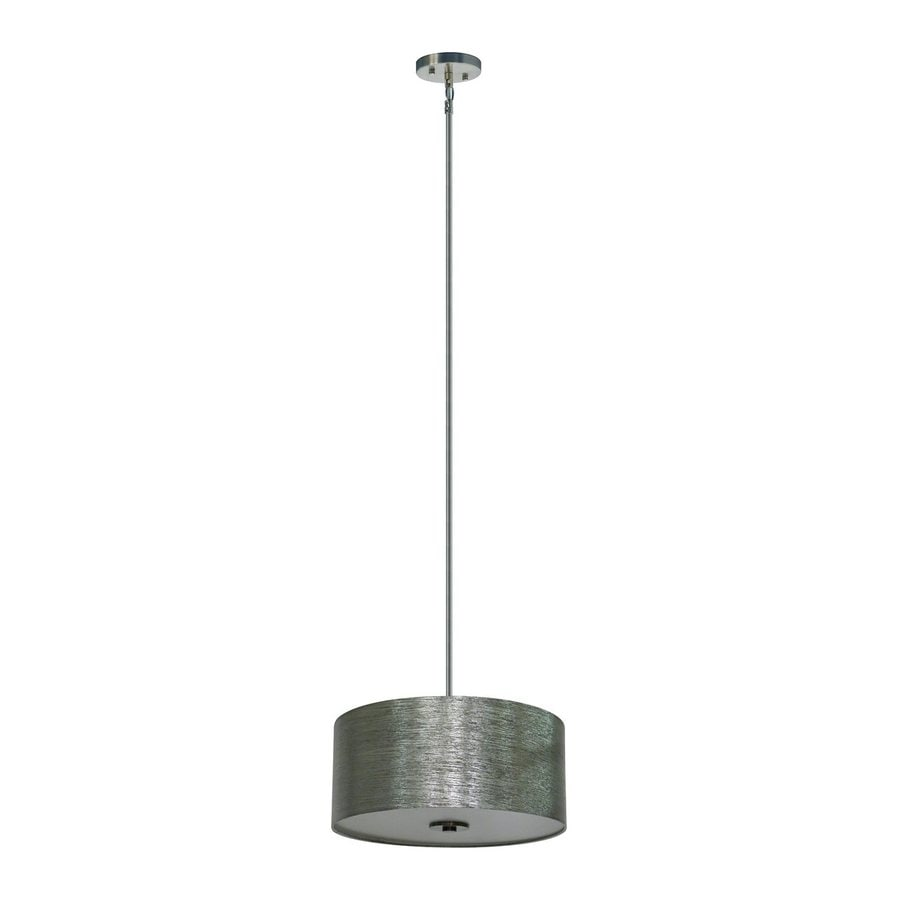 Whitfield Lighting Modena 16-in Satin Steel Drum Pendant