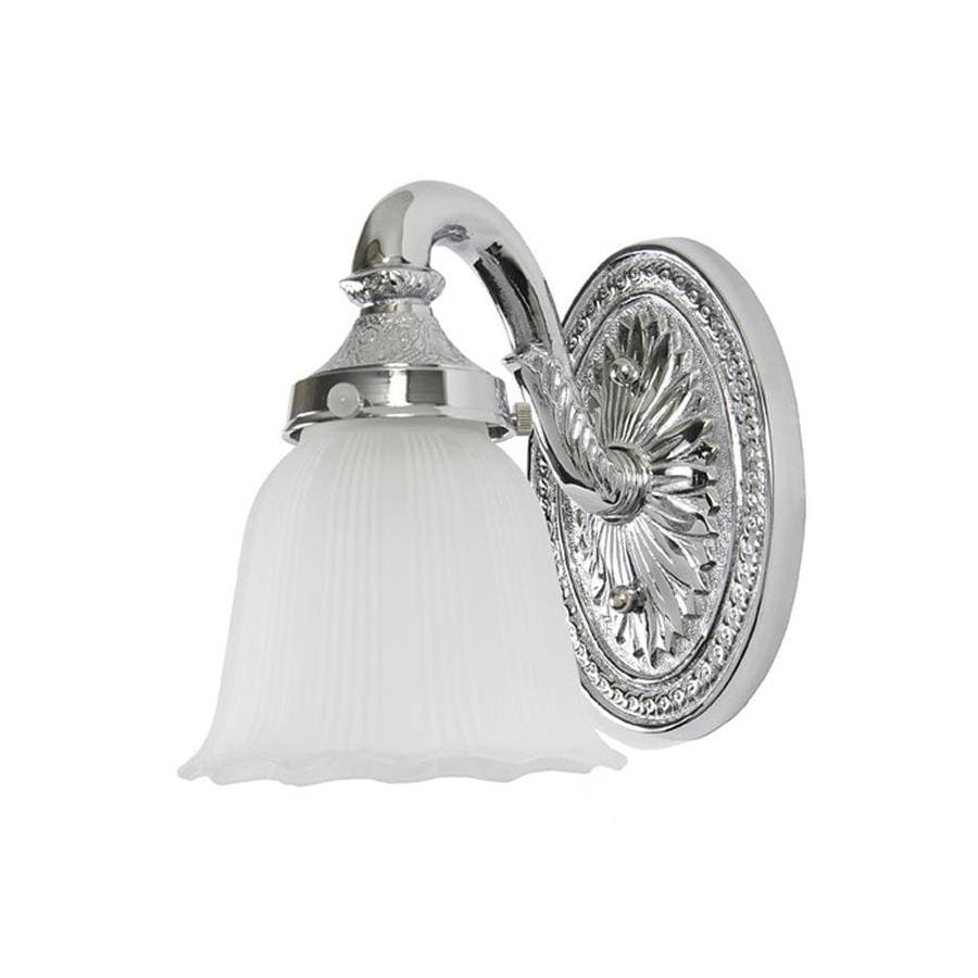 JVI Designs 4.25-in W 1-Light Polished Chrome Arm Hardwired Wall Sconce