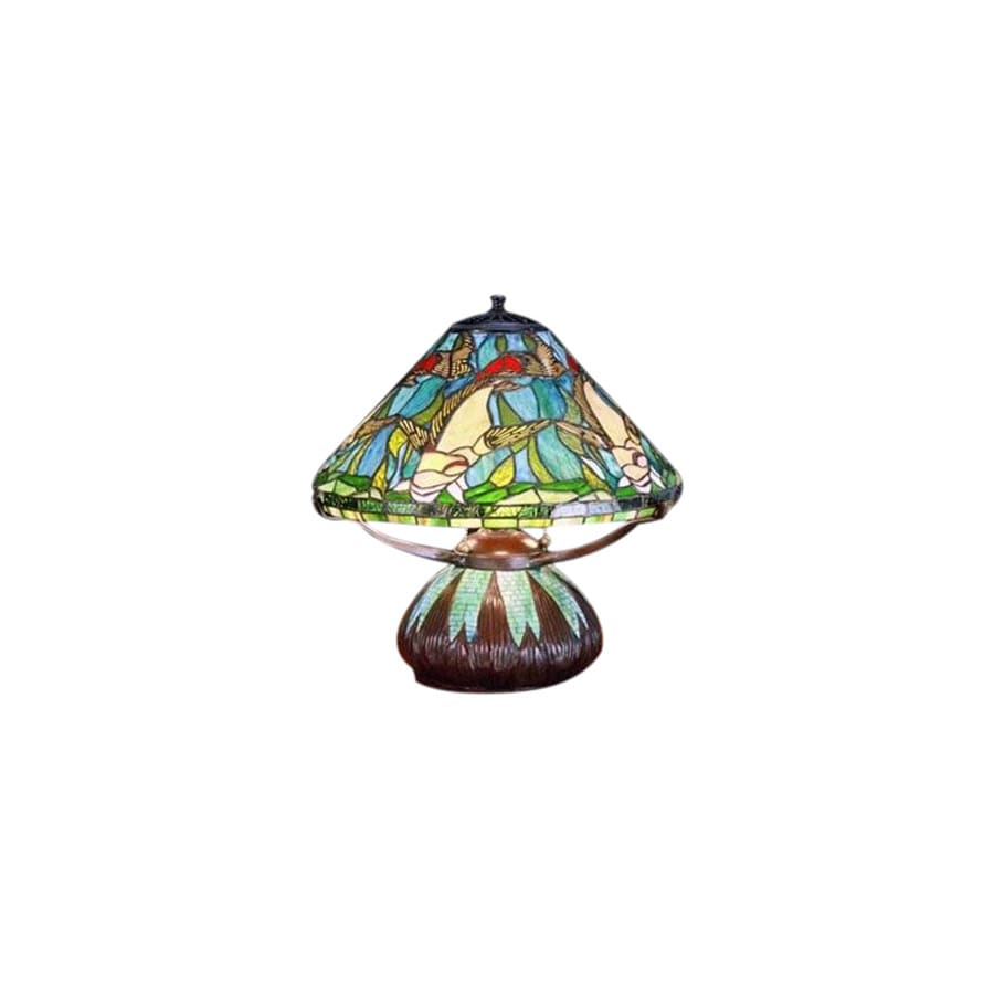Meyda Tiffany 16-in Tiffany-Style Table Lamp with Glass Shade