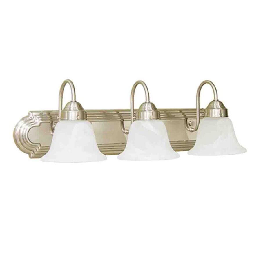 Volume International 3-Light Minister Brushed Nickel Bathroom Vanity Light