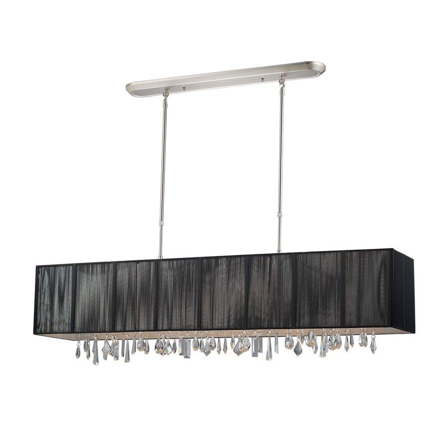 lite casia 48 in w 5 light brushed nickel kitchen island light with. Black Bedroom Furniture Sets. Home Design Ideas