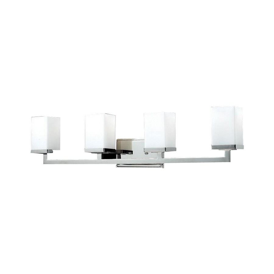 Z-Lite 4-Light Tidal Brushed Nickel Bathroom Vanity Light