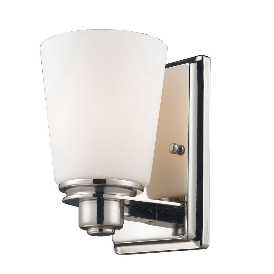 Z-Lite Nile 4.5-in W 1-Light Chrome Arm Hardwired Wall Sconce