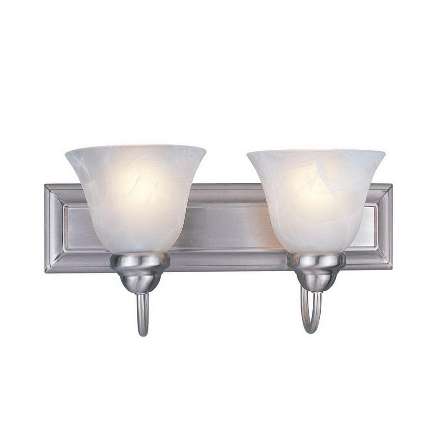 Z-Lite 2-Light Lexington Brushed Nickel Bathroom Vanity Light