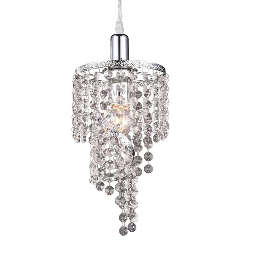 Z-Lite Petite 6-in Chrome Crystal Mini Pendant