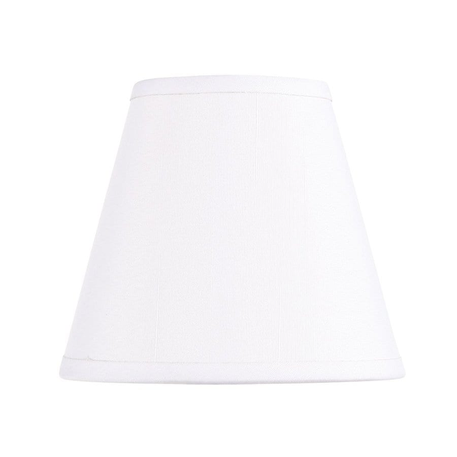 Livex Lighting 4.5-in x 5-in Off White Fabric Chandelier Lamp Shade