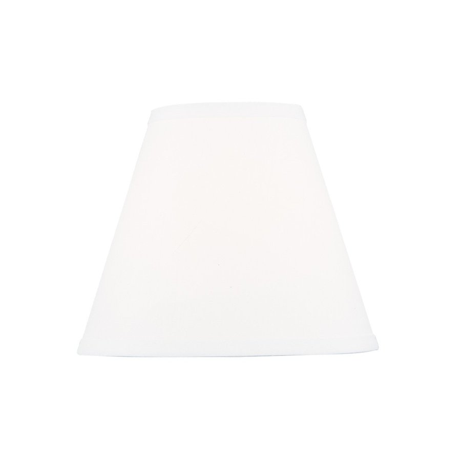 Livex Lighting 8.5-in x 10-in White Fabric Cone Lamp Shade