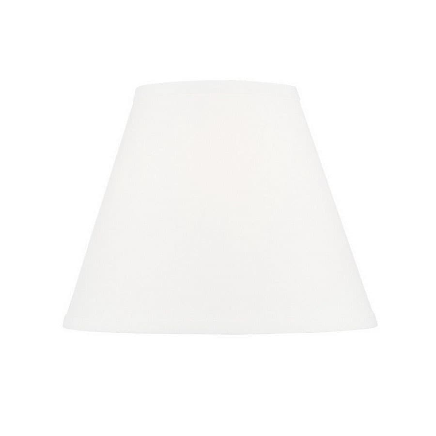 Livex Lighting 9.5-in x 12-in White Fabric Cone Lamp Shade