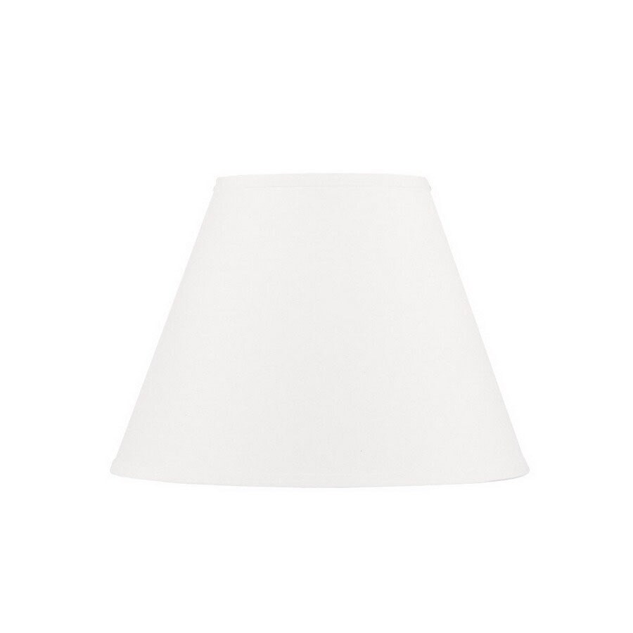 Livex Lighting 12-in x 16-in White Cone Lamp Shade