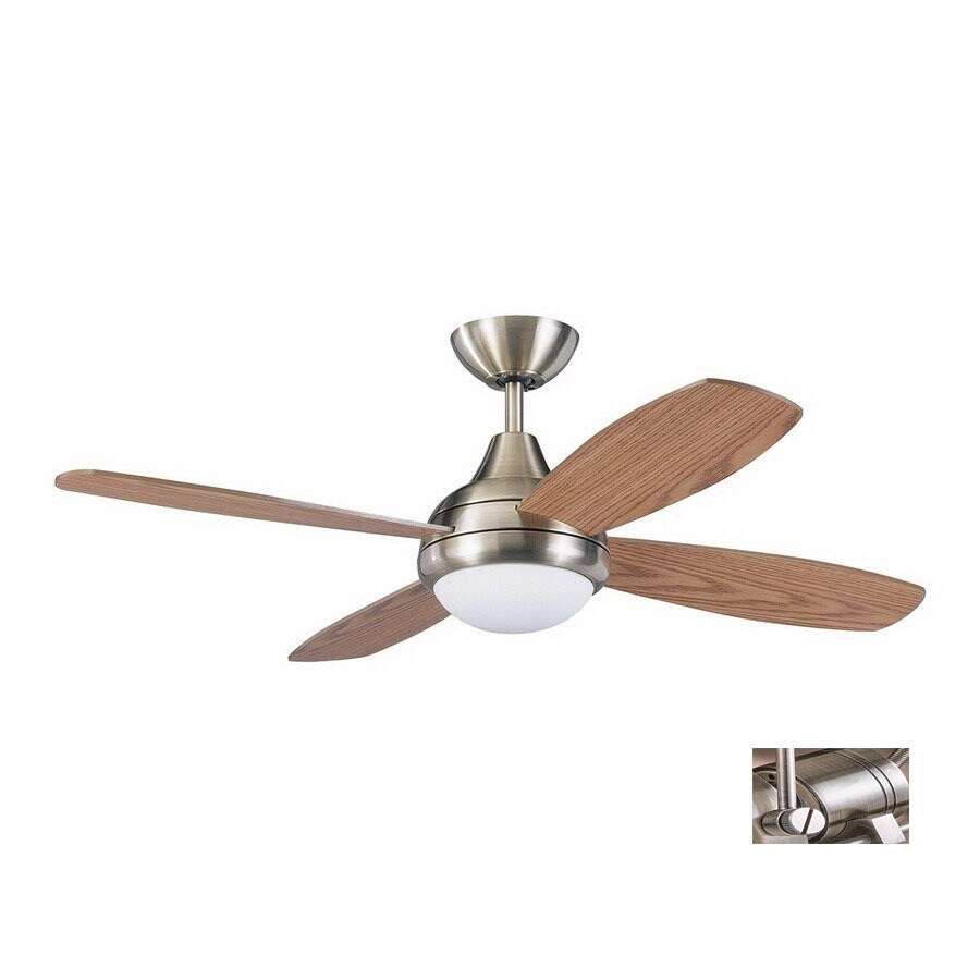 Kendal Lighting 42-in Aviator Antique Brass Ceiling Fan with Light Kit and Remote