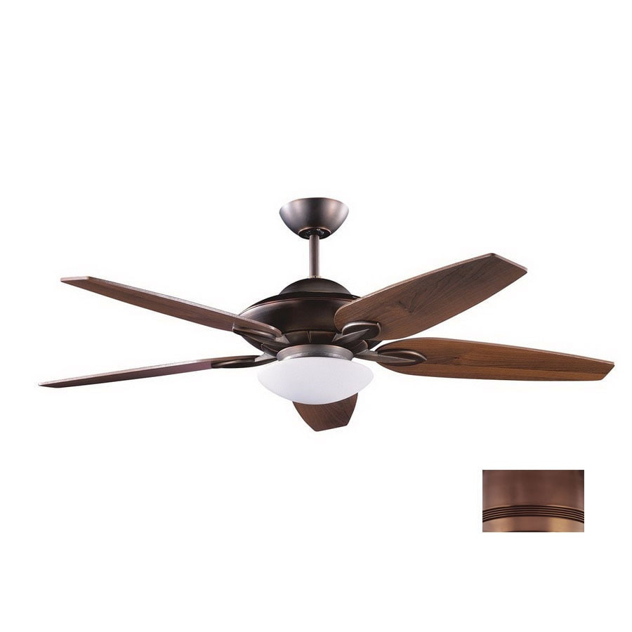 Kendal Lighting 52-in Treville Architectural Bronze Ceiling Fan with Light Kit and Remote