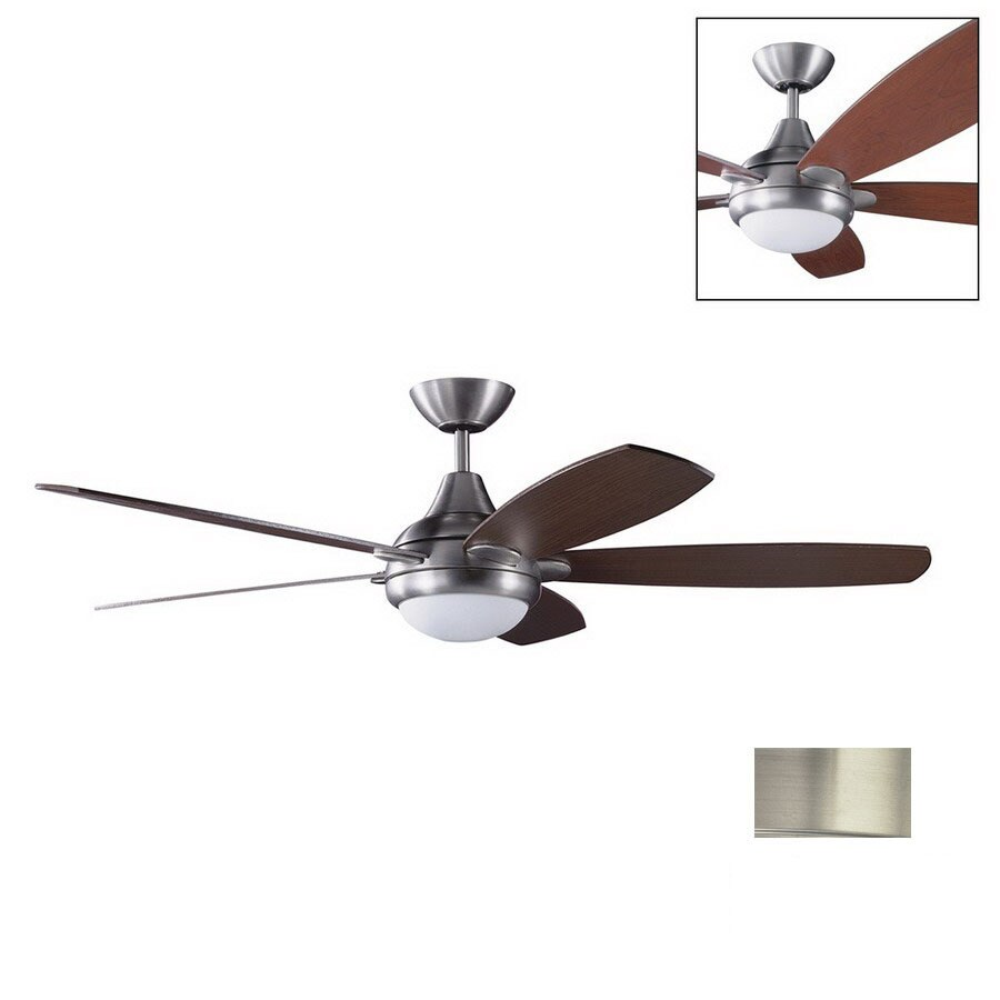 Kendal Lighting 52-in Espirit Satin Nickel Ceiling Fan with Light Kit and Remote