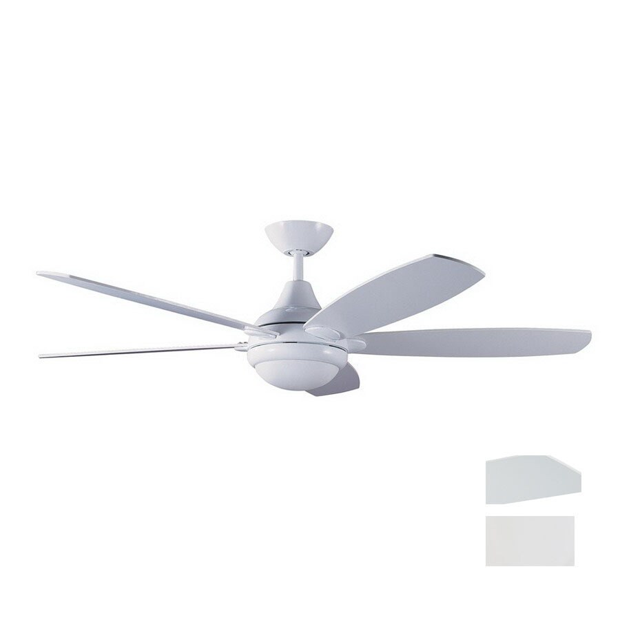 Kendal Lighting 52-in Espirit White Ceiling Fan with Light Kit and Remote