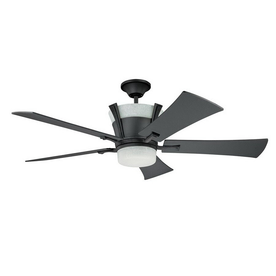 Kendal Lighting 52-in Meridian Wrought Iron Ceiling Fan with Light Kit and Remote