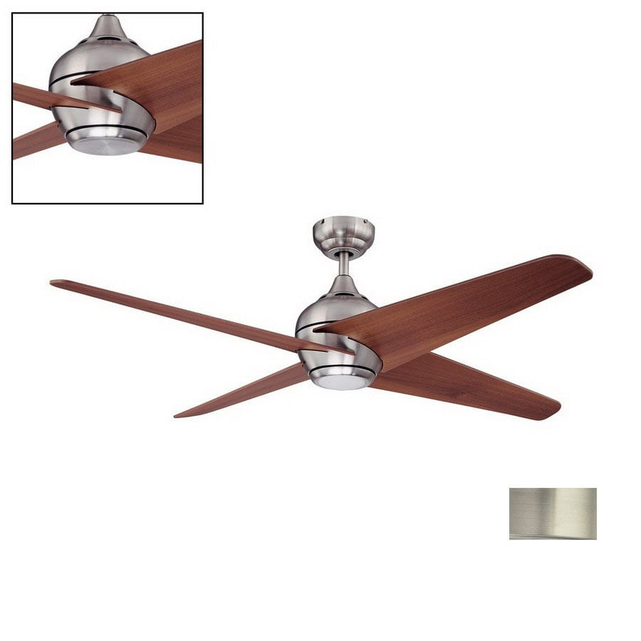 Kendal Lighting 52-in Kosmos Satin Nickel Ceiling Fan with Light Kit and Remote