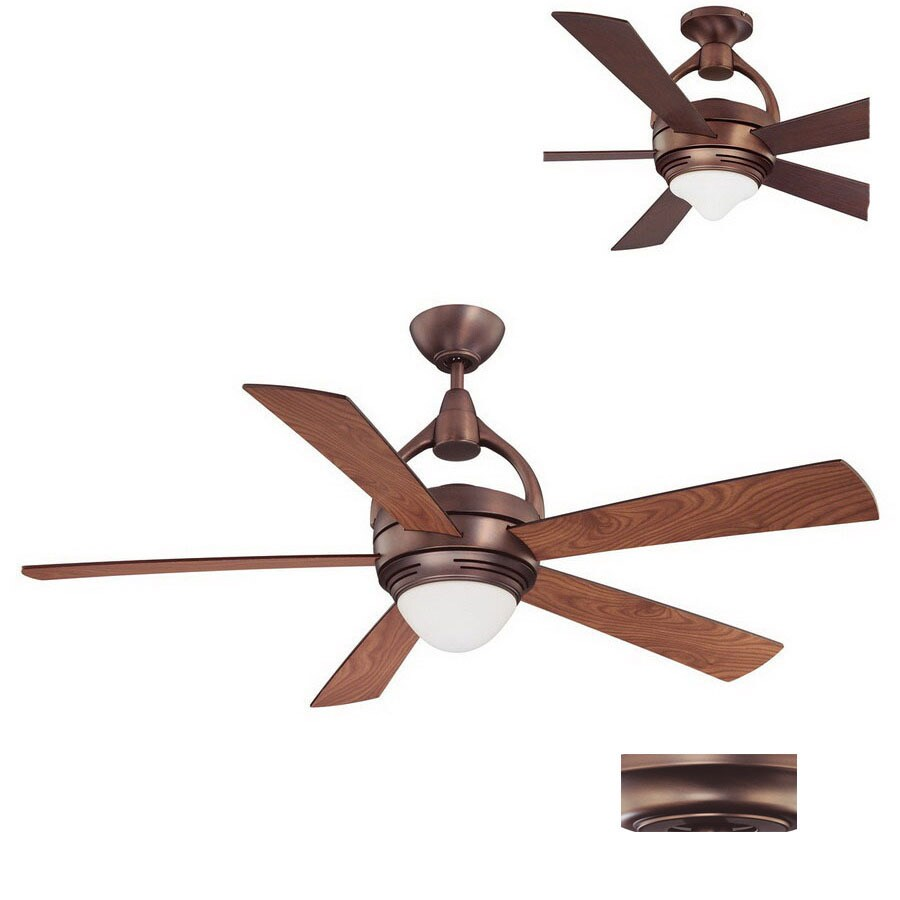 Kendal Lighting 52-in Premia Oil-Brushed Bronze Ceiling Fan with Light Kit and Remote