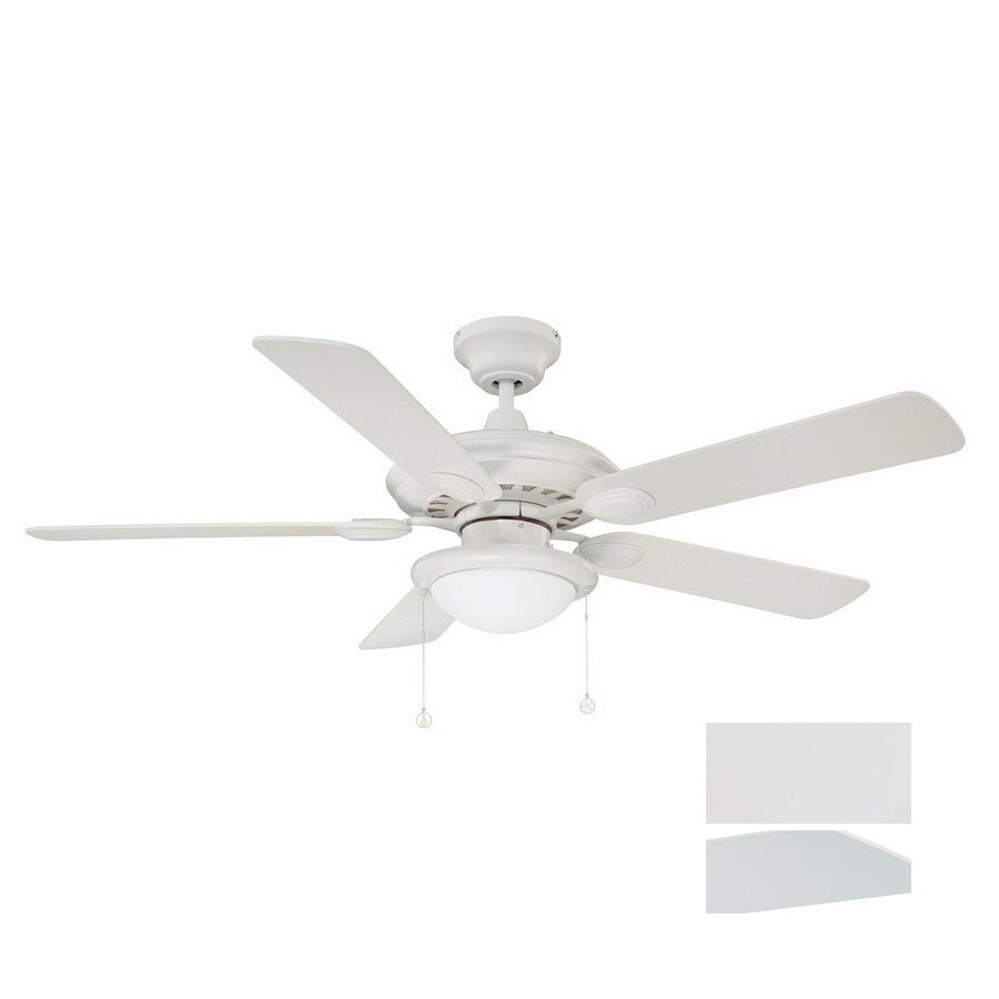 Kendal Lighting 52-in Builders Choice White Ceiling Fan with Light Kit
