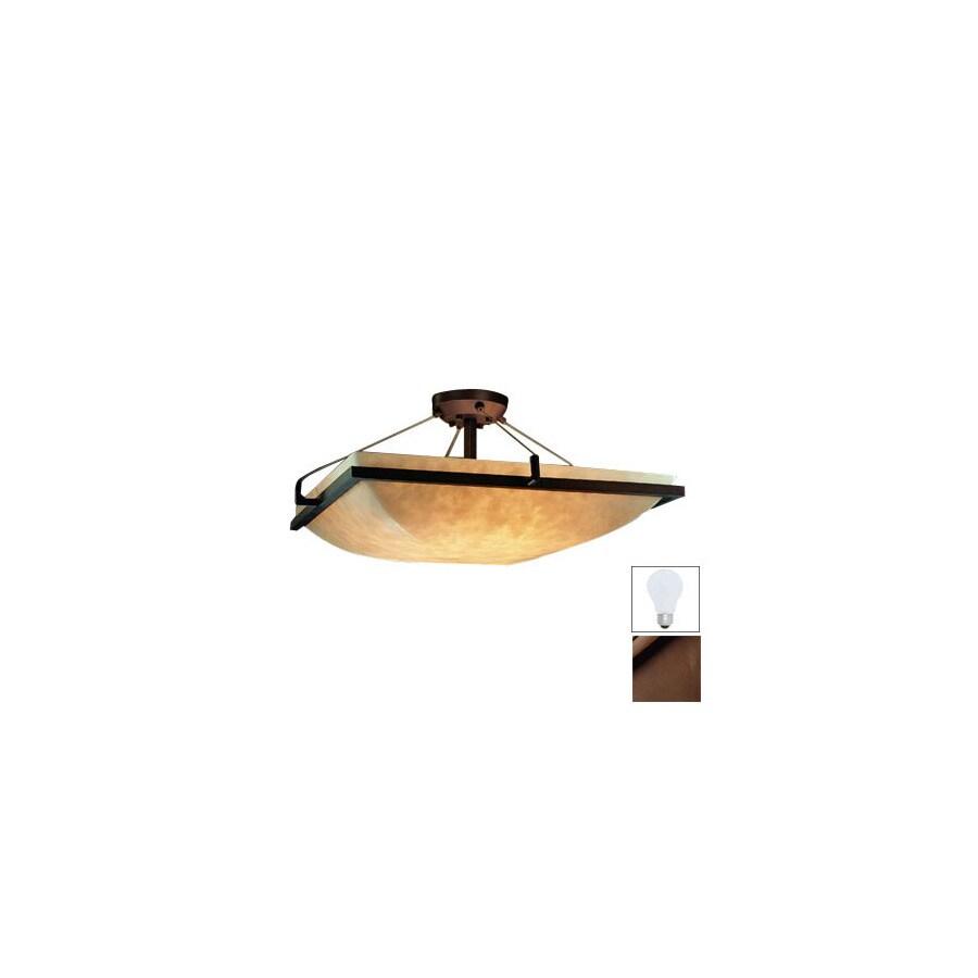 Cascadia Lighting 27-in W Dark Bronze Semi-Flush Mount Light