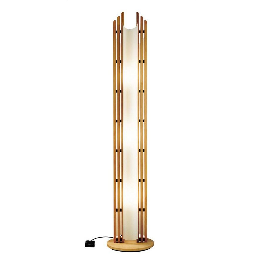 Cascadia Lighting 69-in Shaded Floor Lamp Indoor Floor Lamp with Wood Panel Shade