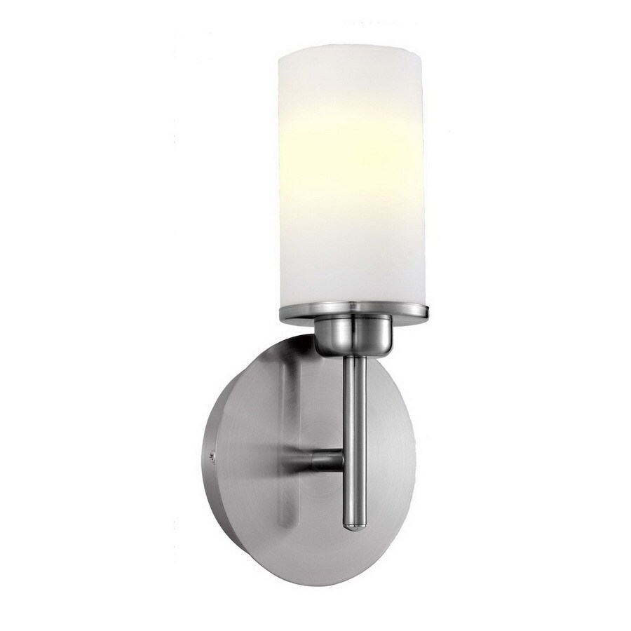 EGLO 4-in W Prato 1-Light Matte Nickel Arm Wall Sconce