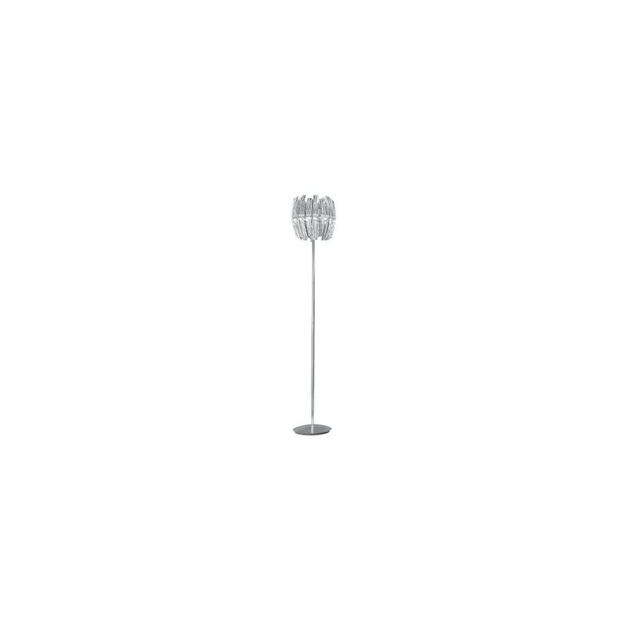 EGLO 57-in Chrome Crystal Floor Lamp with Shade