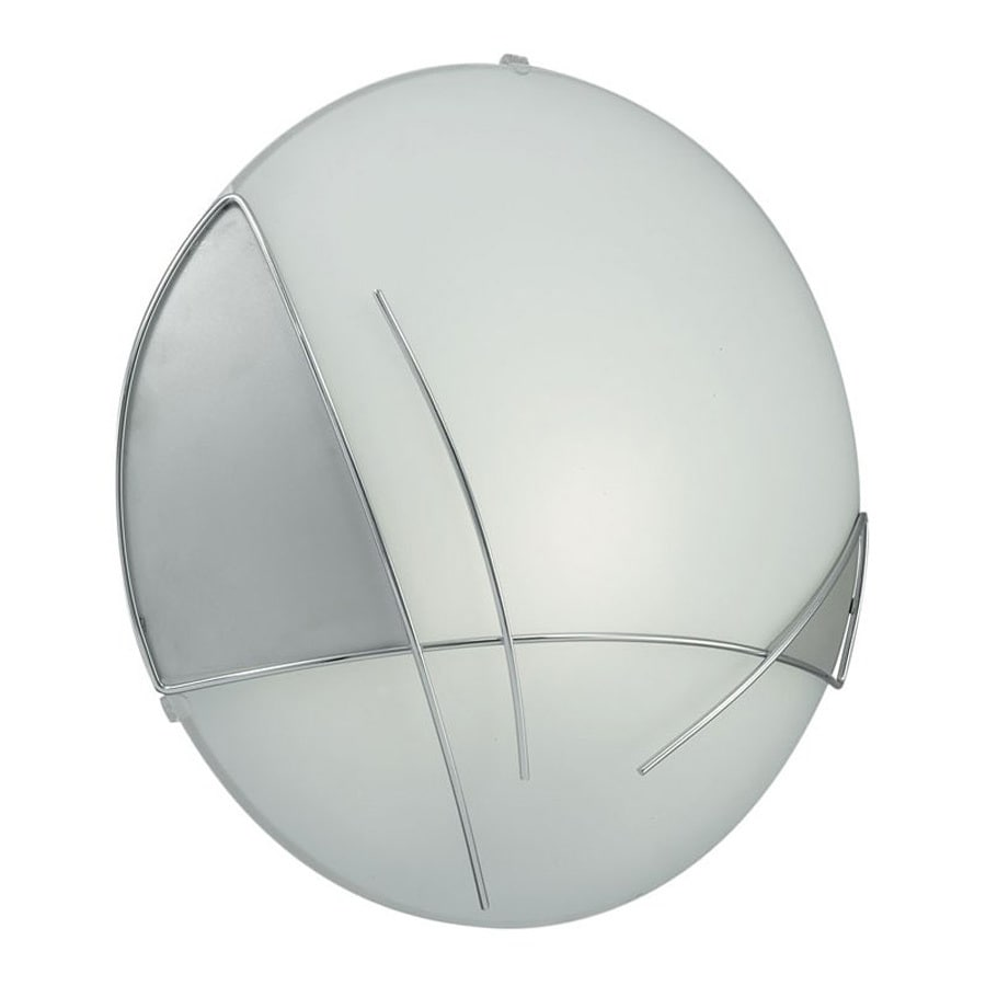 EGLO Raya 13-in W 1-Light Silver/Chrome Pocket Hardwired Wall Sconce