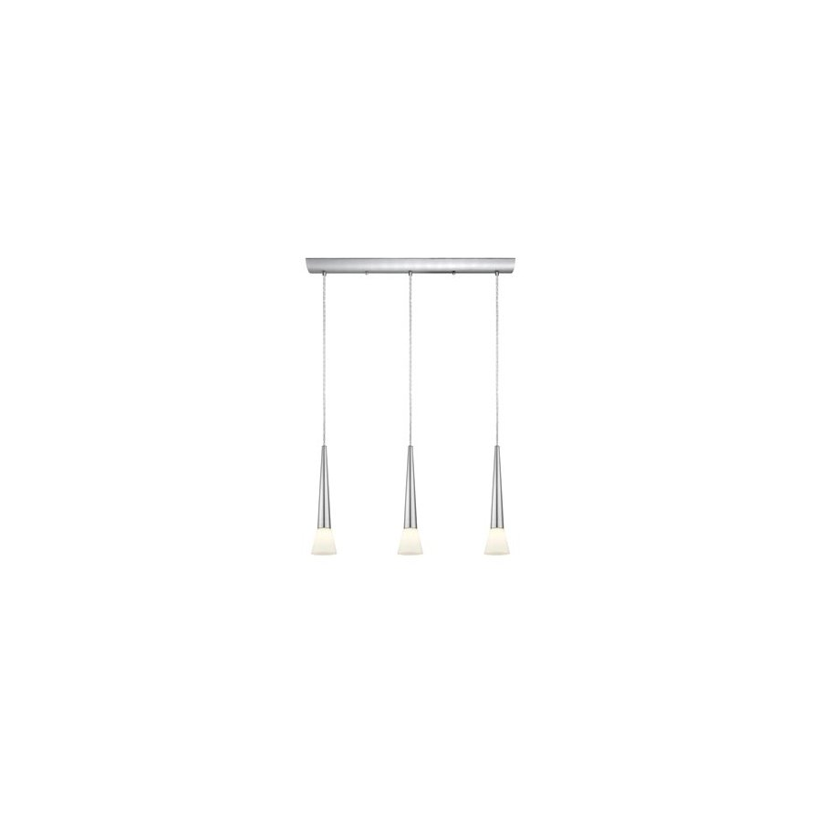 EGLO Legnano 4.5-in W 3-Light Matte Nickel Kitchen Island Light with White Shade