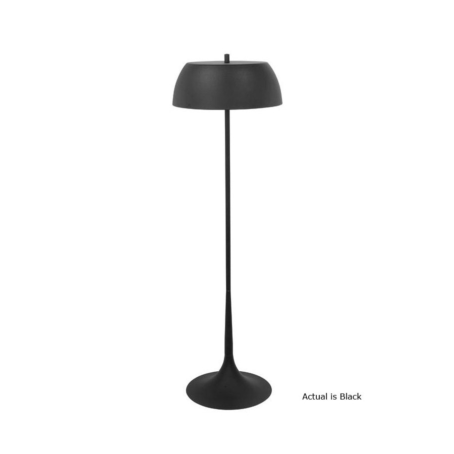 EGLO 54-in Black Indoor Floor Lamp with Metal Shade