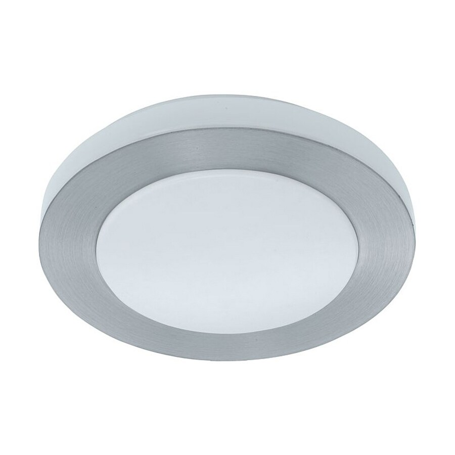 EGLO Carpi 11.75-in W Brushed Aluminum Ceiling Flush Mount Light
