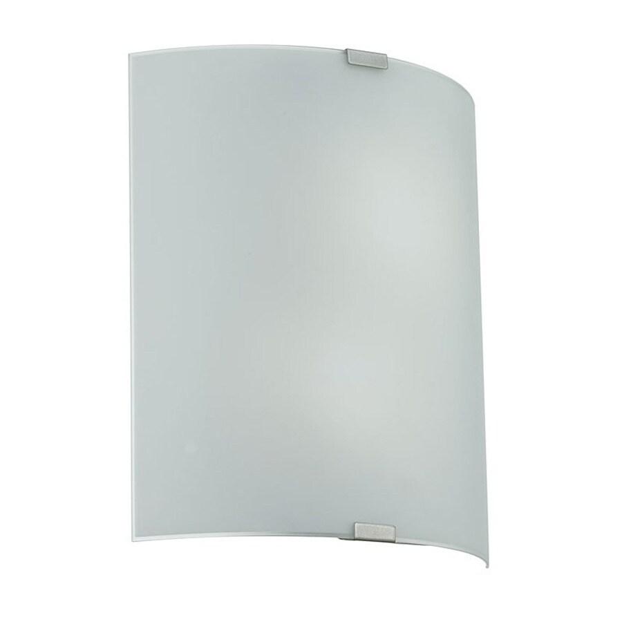 EGLO Grafik 12.625-in W 2-Light Chrome Pocket Hardwired Wall Sconce