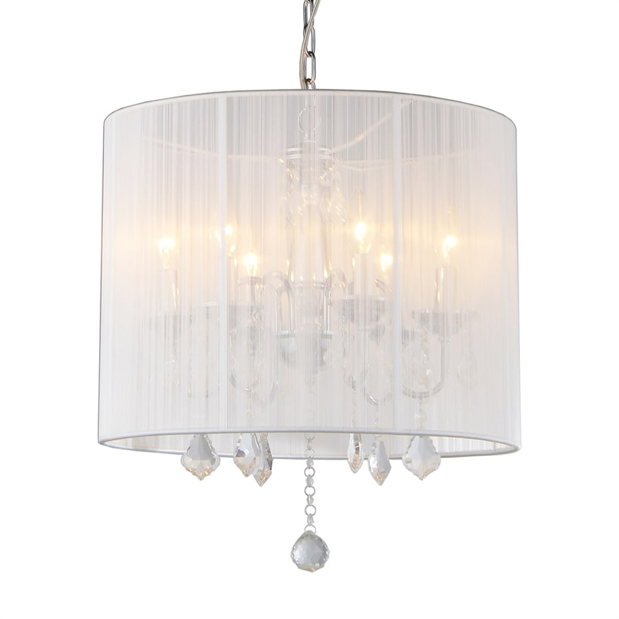 Warehouse of Tiffany 18.5-in 6-Light Chrome Vintage Drum Chandelier
