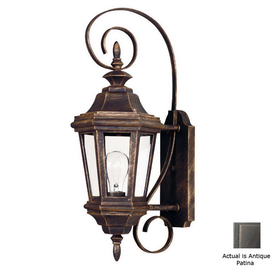 Kenroy Home Estate 21-in Antique Patina Outdoor Wall Light