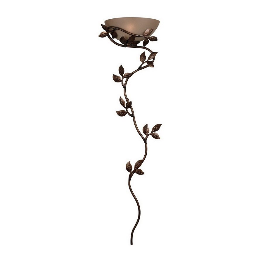 Kenroy Home Wallchiere 15-in W 1-Light Golden Bronze Arm Hardwired Wall Sconce